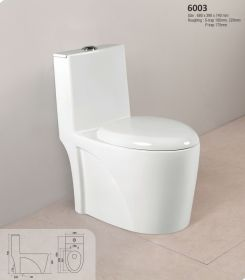 Ambani White Ceramic Glossy Toilet Europe/Western Closet (EWC) 6003