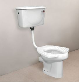Ambani White Ceramic Glossy Toilet Europe/Western Closet (EWC) HARNI-Anglo-Indian-3009-P-TRAP