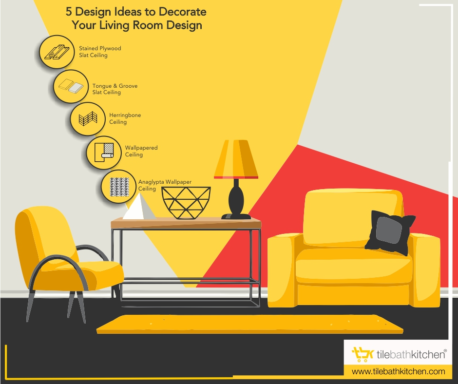 5 Design Ideas To Decorate Your Living Room Ceiling
