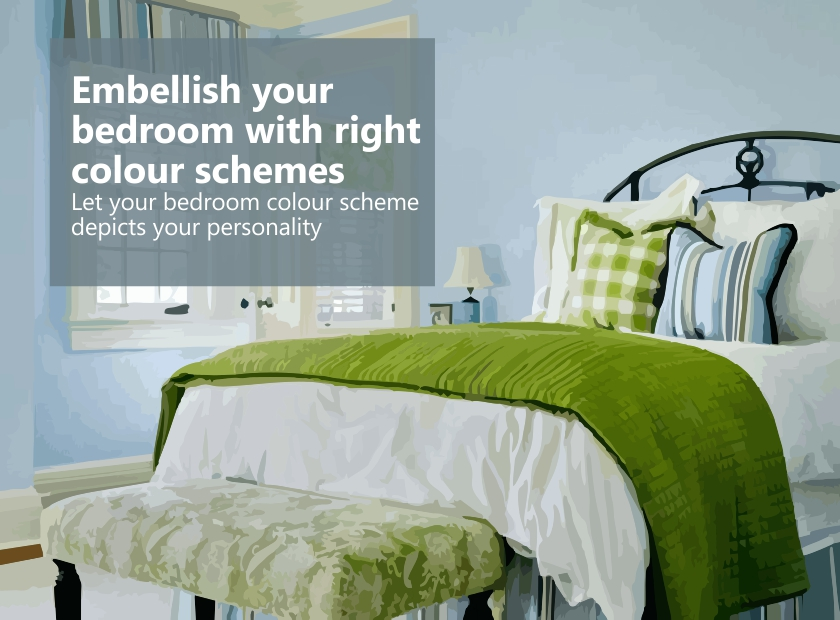 Embellish your bedroom with right colour schemes