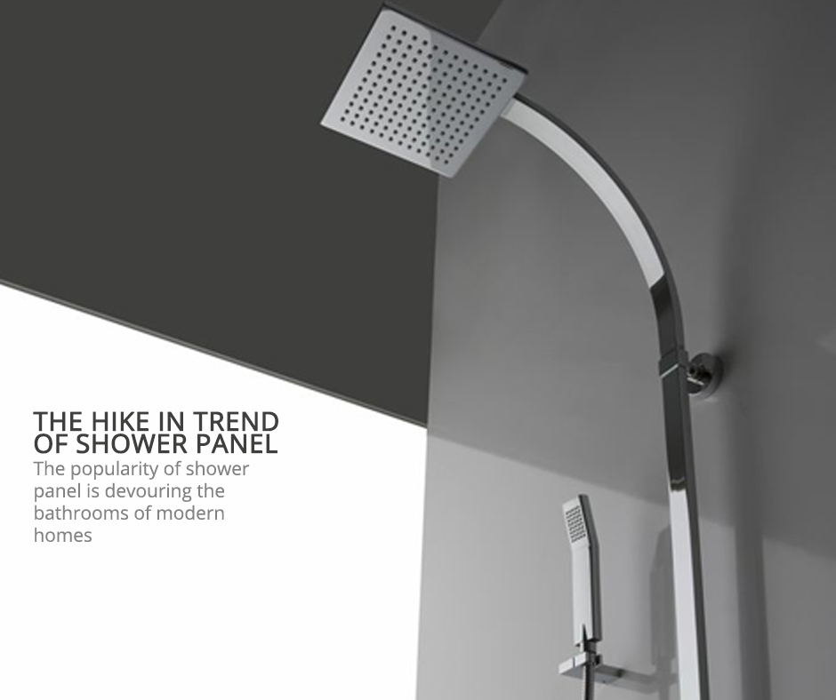 Witness the boost in the trends of shower panels