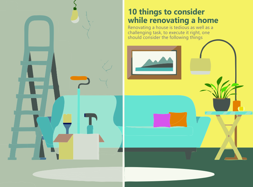 10 things to consider while renovating a home