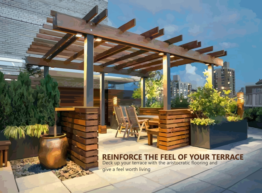 Carve your terrace with a touch of nature