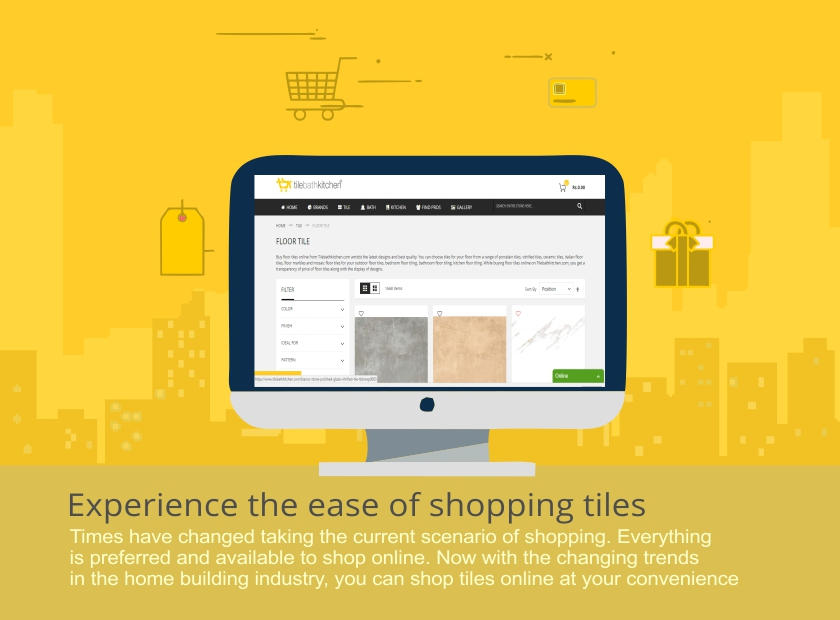 Go convenient with tiles online shopping