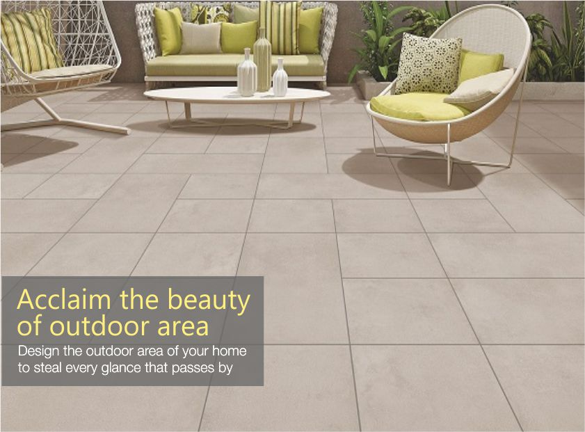 Acclaim the beauty of outdoor area with ceramic tiles