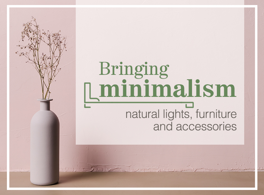 Bringing minimalism to your bedroom with nature and lights